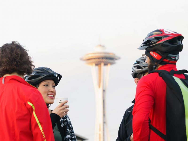 Bikers in Seattle