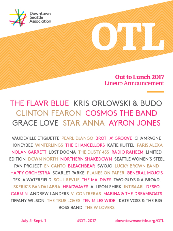 OTL 2017 Full Lineup - Out to Lunch