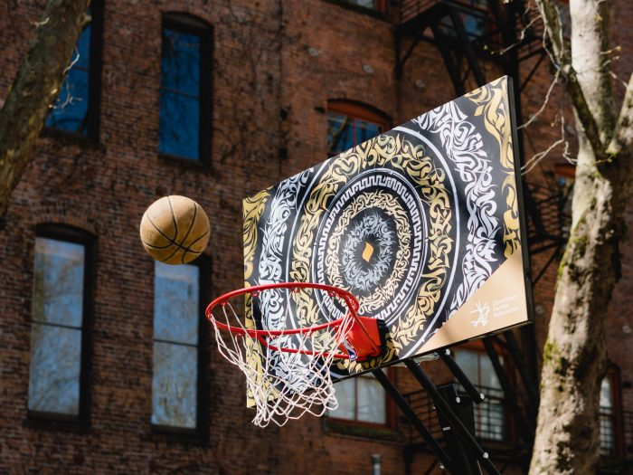 Backboard designed by Leo Shallat