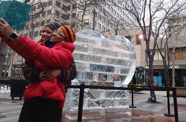 Icy Heart Sculpture