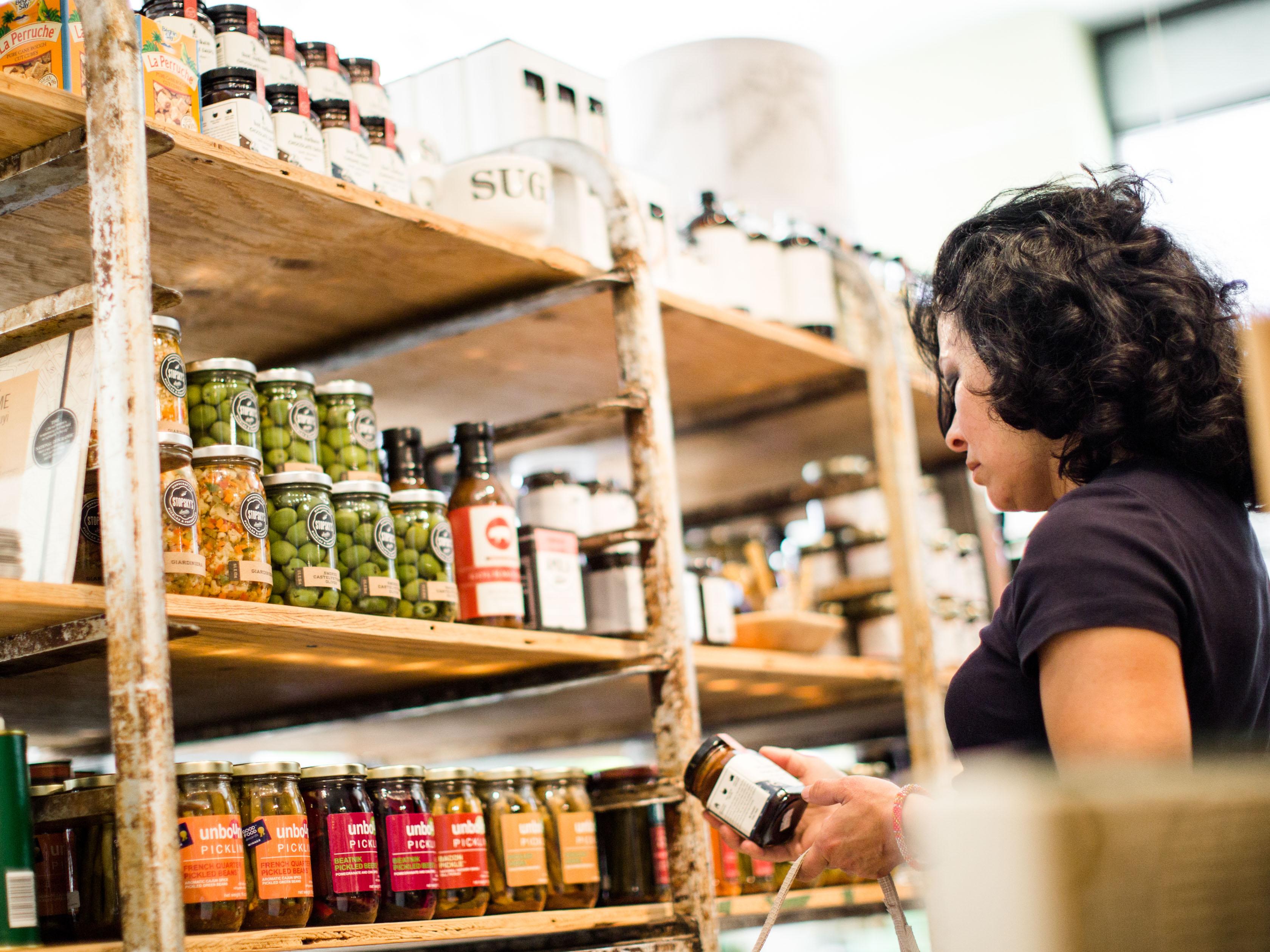 Woman shops at Watson Kennedy