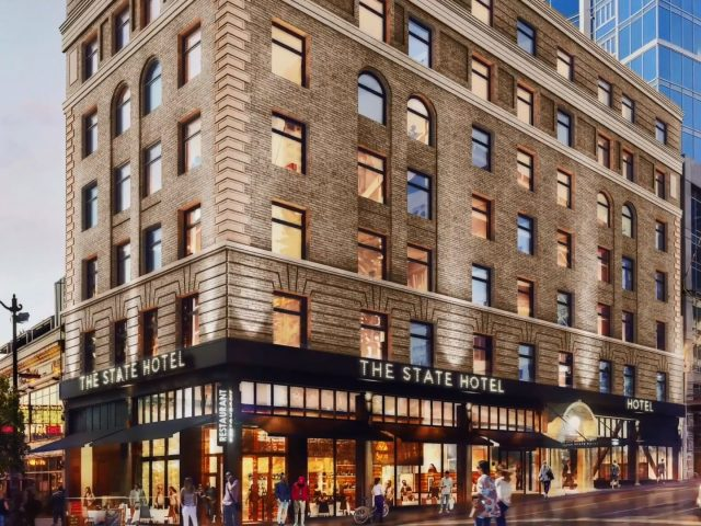 Rendering of new hotel in downtown Seattle