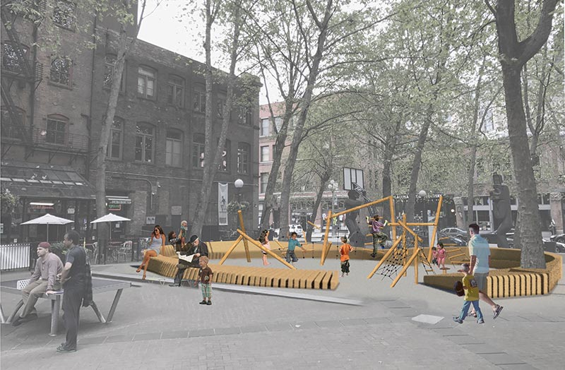 Occidental Square Play Place, coming soon. Rendering: Berger Parntership