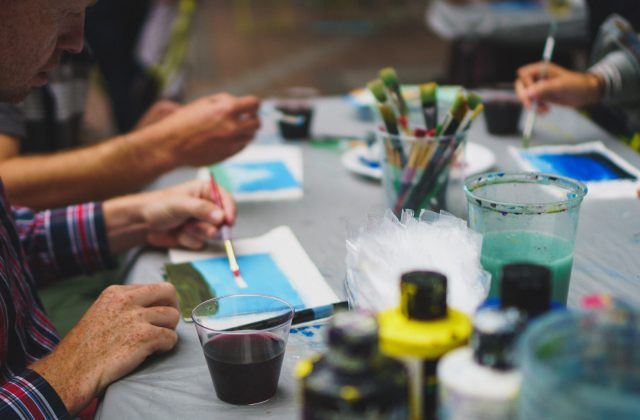 wine and paint happy hour