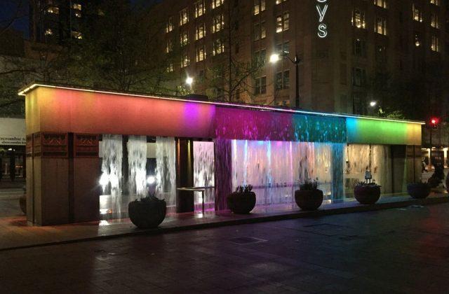 Fountain lighting installation Westlake Park