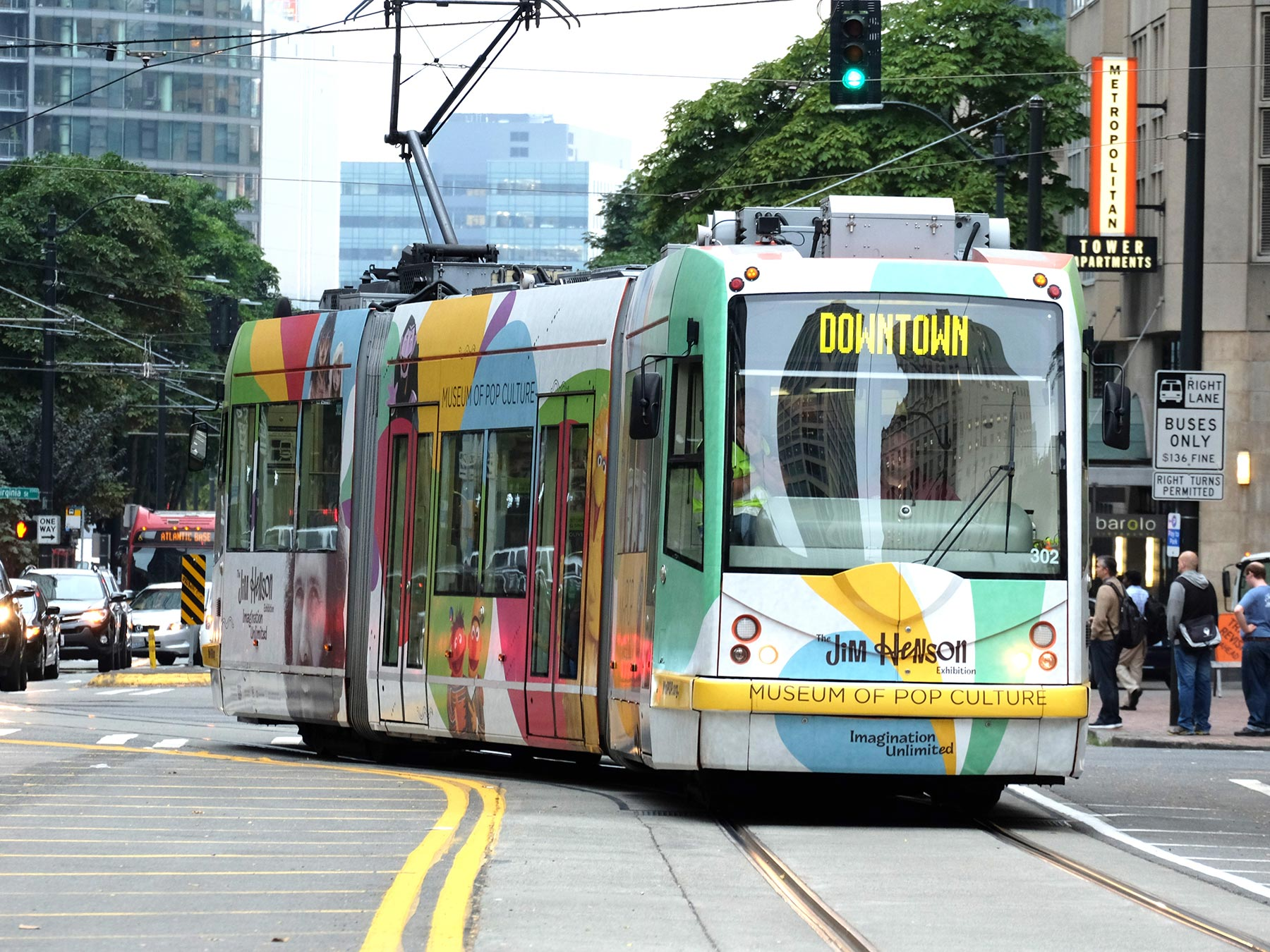 Streetcar in downtown Seattle