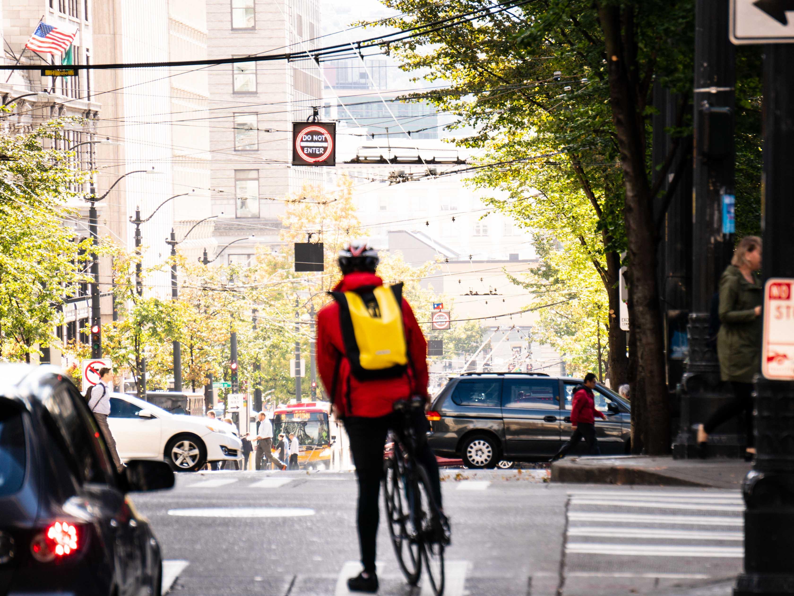 Man on Bike on Third Avenue
