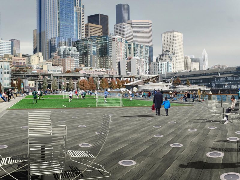 Waterfront rendering by City of Seattle and James Corner Field Operations
