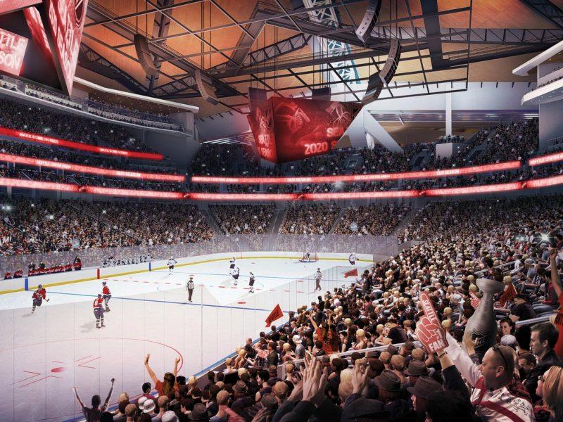 Rendering of hockey rink. Credit: NHL Seattle Populous