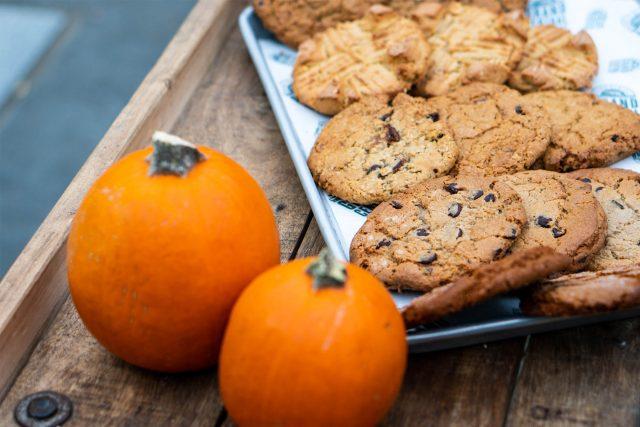 Pumpkins and cookies