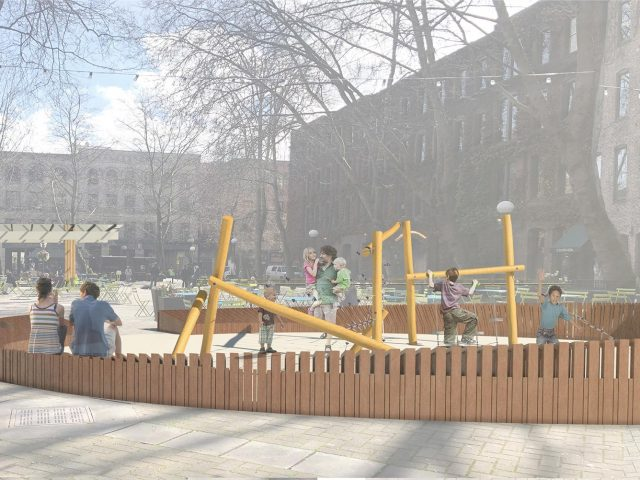 Children's playspace rendering Occidental Square